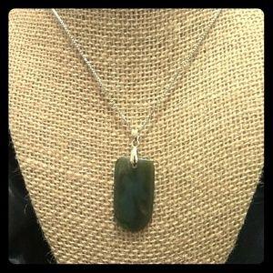 Apple jade necklace